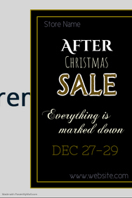 After Christmas Sale Poster Template