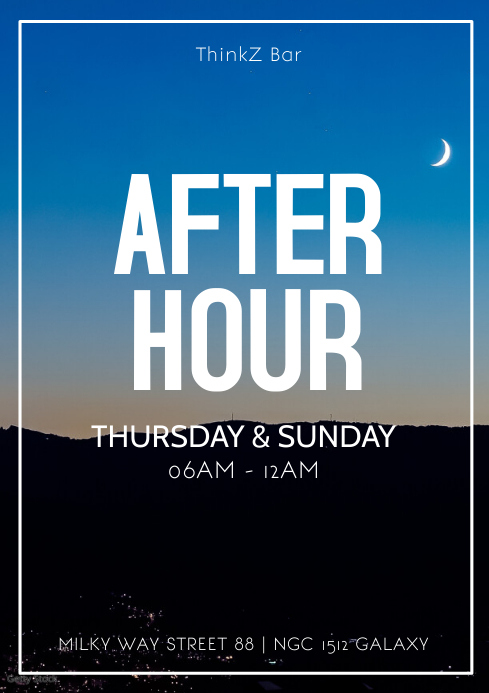 After Hour Party Daydance club bar afterhour