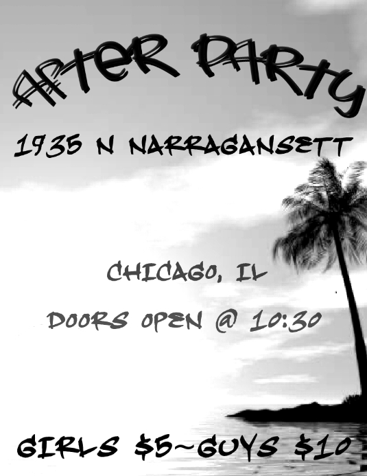 after party card