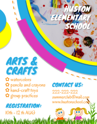 After School Arts and Crafts Flyer