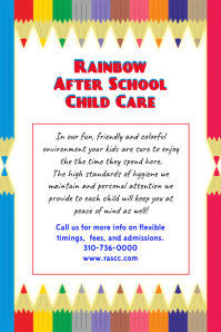 After School Child Care Poster