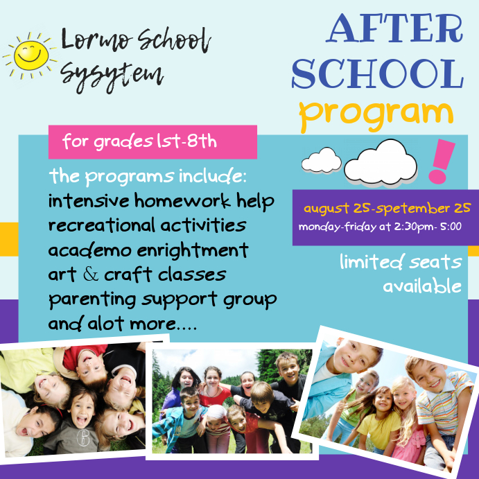 After School Club Activities Ad