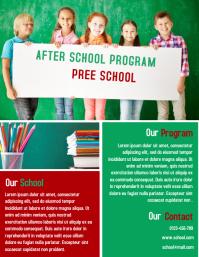 School Education Flyer Template Design