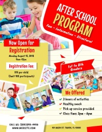 After School Program Pamflet (Letter AS) template