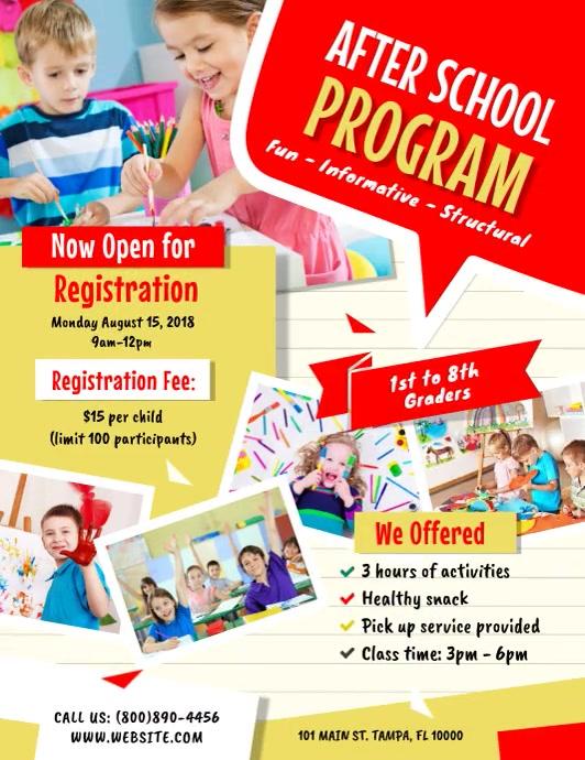 After School Program Folder (US Letter) template