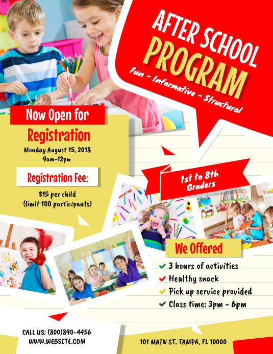 After School Program Flyer Pamflet (VSA Brief) template
