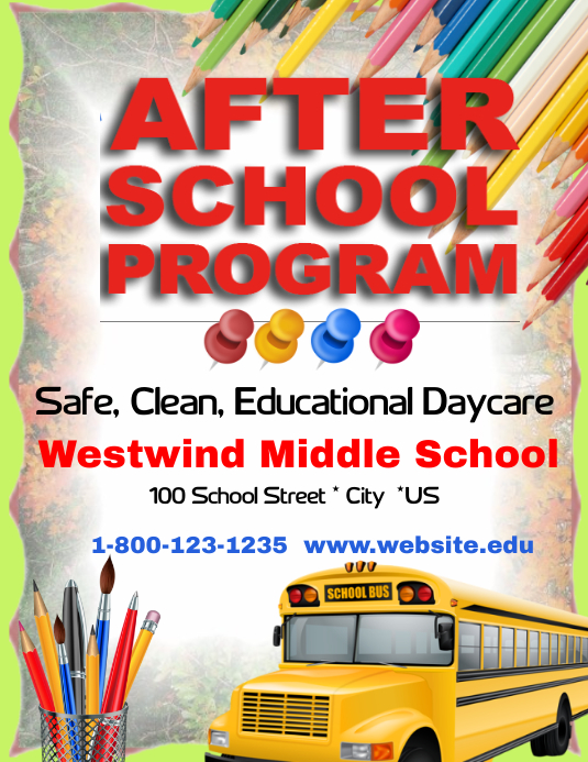 after school program template postermywall