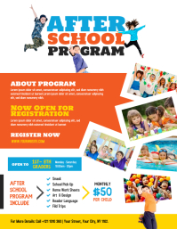 After School Program Flyer Template