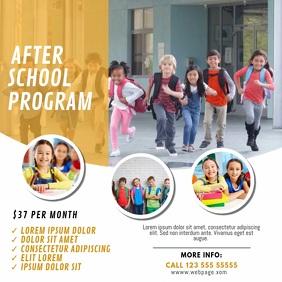 After School Program Video template
