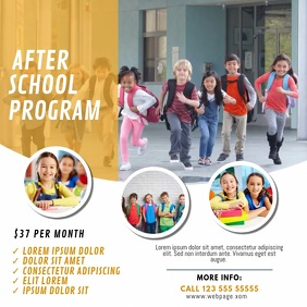 After School Program Video template