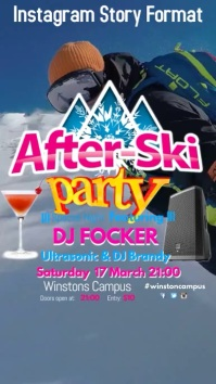 After Ski Party Instagram Story