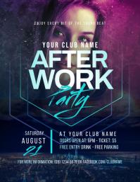 After Work Party Flyer Рекламная листовка (US Letter) template