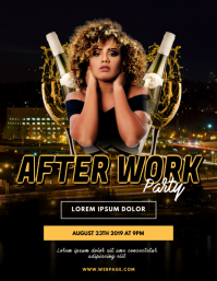 After Work Party Flyer Design template