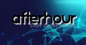 AfterHour Party Event Morning Daydance club ปกอีเวนต์ Facebook template