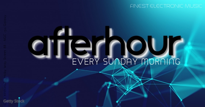 AfterHour Party Event Morning Daydance club Facebook begivenhed cover template