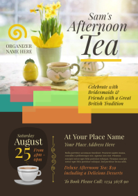 Afternoon Tea Flyer A4 template