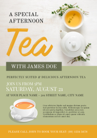 12 810 customizable design templates for tea party flyer postermywall
