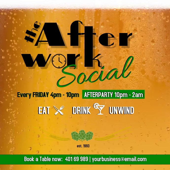 Afterwork Social Every Friday