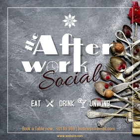 Afterwork Social at the bar every Friday