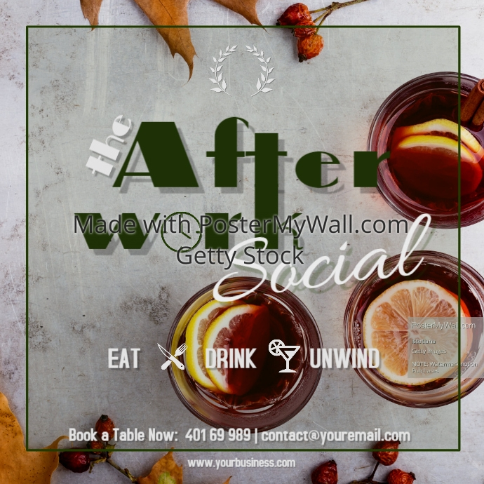 Afterwork Social at the bar every Friday Spring Summer Vibes