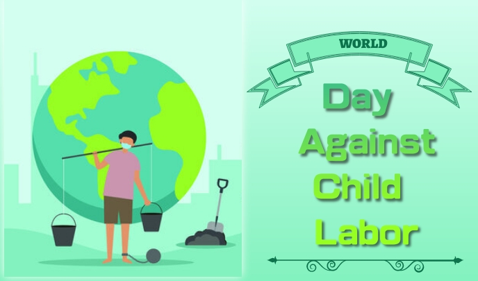 against child labor day แท็ก template