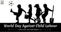 Against Child Labour Day Gedeelde afbeelding op Facebook template