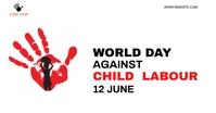 against child labour social media post Gedeelde afbeelding op Facebook template