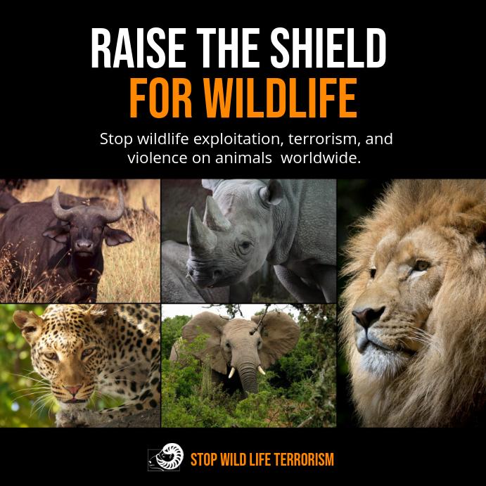 Against Wildlife Exploitation Instagram Post Template