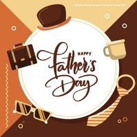 aHAPPY FATHER'S day greeting card template Logo