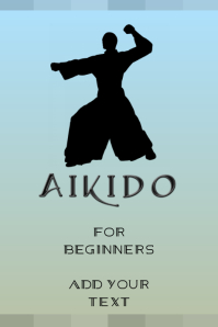 aikido martial arts template Poster