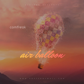 Air Ballon CD Cover Template