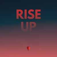 Air Balloon Rise Up Album Cover Art Portada de Álbum template