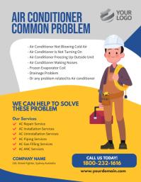 Air Conditioner services flyer Template Volante (Carta US)