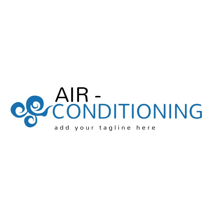 air conditioning logo template