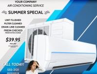 AIR CONDITIONING SERVICE Рекламная листовка (US Letter) template