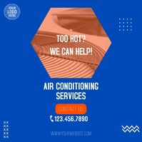 Air Conditioning Services Ad Square (1:1) template