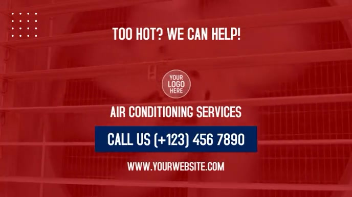 Air Conditioning Services Digitalt display (16:9) template