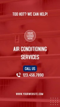 Air Conditioning Services Instagram Video Ad Instagram-verhaal template