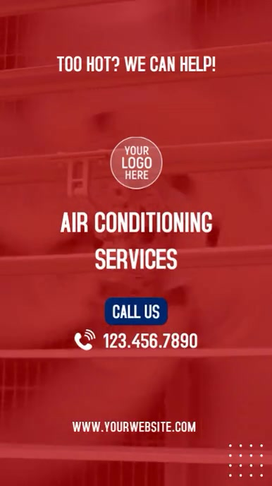 Air Conditioning Services Instagram Video Ad template