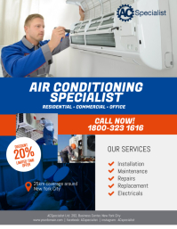Air Conditioning Specialist Flyer Poster template