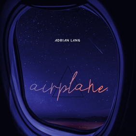 Airplane Window Milky Way Mixtape CD Cover template