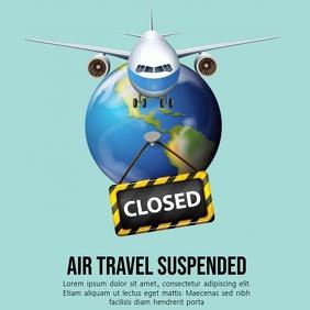 AIRPORT CLOSURE TEMPLATE Instagram Post