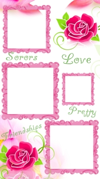 Alpha kappa alpha sorority photo frame collage Historia de Instagram template