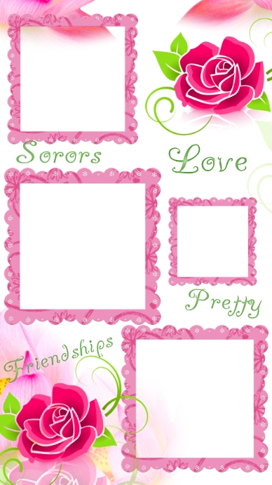 Alpha kappa alpha sorority photo frame collage Instagram Story template