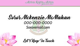 Alpha kappa Alpha sorority business Card template