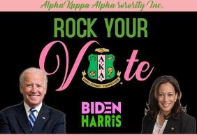 Alpha kappa alpha sorority inc. go vote biden harris Postcard template