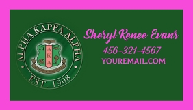 Alpha kappa alpha sorority inc. business card template