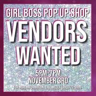 Girl boss vendor event pop up shop Instagram-bericht template
