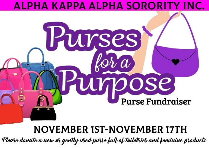 Alpha kappa alpha sorority inc. fundraising event Kartu Pos template