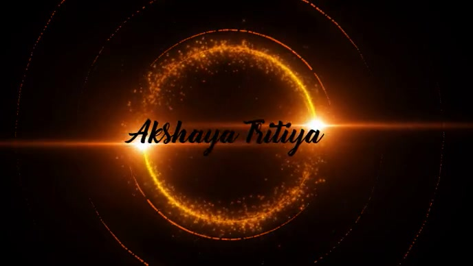 Akshaya Tritiya Gold Video Template